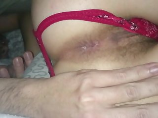 My wife pleasuring her clits using bagatelle while fucked hardcore