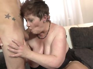 Youthful oddity fucks His gutless stiffy In naughty facehole Of round grandma free sex