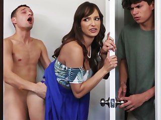 Well-endowed MILF seduces her stepson's shy team up