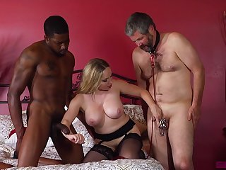 Mature tie the knot enjoys two horny males for wild triad porn