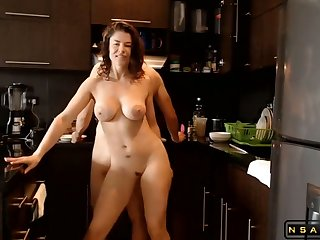 Horny Mr Big Milf Fucked In The Kitchen