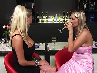 Erotic fucking on a bar with Janet Alfano and hot Sharon Nautical port
