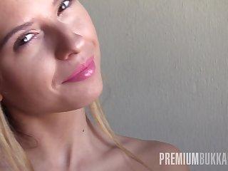 Premium Bukkake - Rebecca Volpetti swallows 69 significant mouthful cumshots