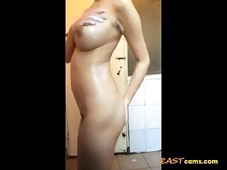Chinese busty bitch shower