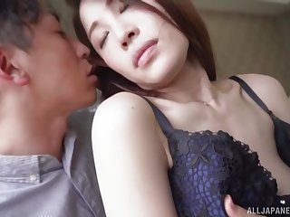 Japanese hottie Rinne Touka fucked and masked with sticky jizz