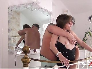 Happily betrothed bitch loves having sex all round her horny husband