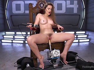 Horn-mad Dani Daniels enjoys ache sex machines for the best cum ever
