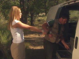 Outdoor fucking during camping with torrid blonde Lauren Phoenix