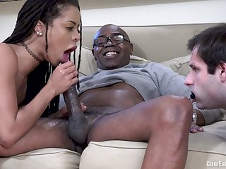 Tight Cunt Interracial Pumping In Front Of Cuckold Husband