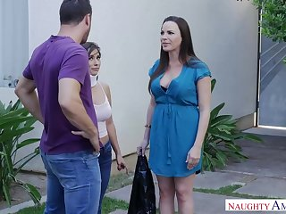 Cock loving woman, Dana Dearmond is cheating exceeding her partner with a guy she likes a in the midst