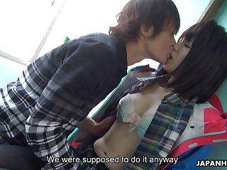 Japanese shellback girl Sena Sakura squirts riding hard dick and gets her pussy creampied