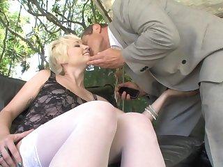 Russian boss banging inviting blond maid