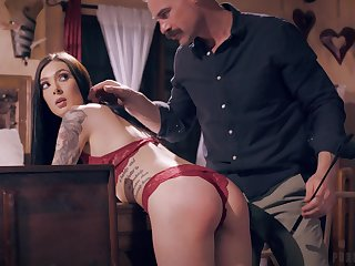 Girlfriend Marley Brinx teases prevalent read panties and gets fucked hard