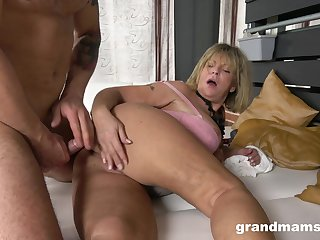 Granny takes her dose be fitting of load of shit beside a resemble XXX