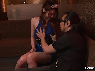 Japanese escort Yuka Kurosawa  is fucked and creampied by two patrons in the night club