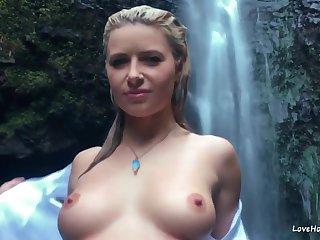 Big tits, Blonde, Outdoor, Pov, Tits,