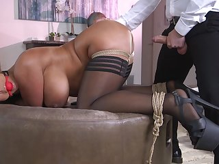 Hot ass wife Black Hard gets a buttplug during vaginal sex