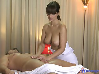 Sensual masseuse less big jugs, off one's trolley oral and blowjob