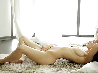 Ass, Brunette, Erotic, Natural, Pussy, Solo, Teen, Tits,