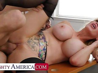Ass, Big ass, Big cock, Big tits, Blonde, Blowjob, Cum, Deepthroat, Handjob, Heels, Lick, Lingerie, Masturbation, Milf, Orgasm, Shave, Stockings, Tits,